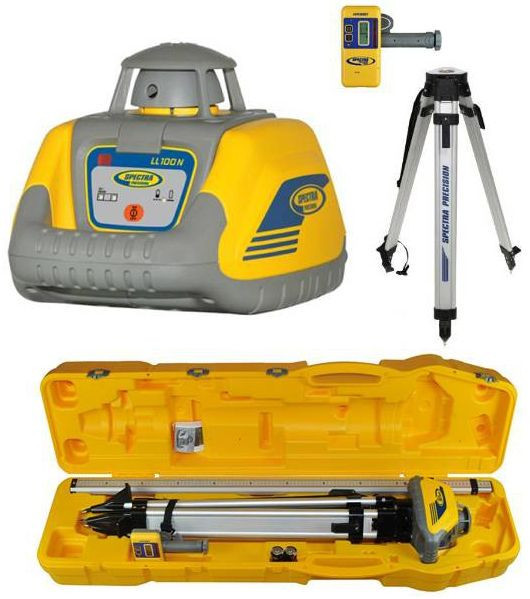 PROMOTION! Rotation laser level LL100N-3 set with receiver, tripod, 4,7m rod in one plastic case!. cnt. 875.00 €