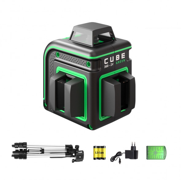 Laser level ADA CUBE 360-2V GREEN Professional Edition. CALIBRATED!. cnt. 230.00 €