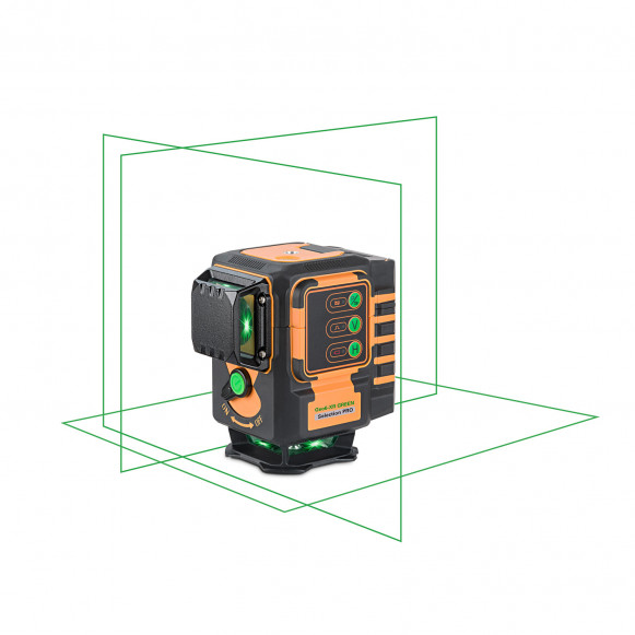 SELLOUT!  Geo6-XR GREEN SP green beam 3 x 360 projection laser kit. KALIBRATED!. cnt. 390.00 €