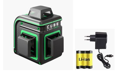 PROMOTION! Laser level ADA CUBE 3-360 GREEN Basic Edition. CALIBRATED!. cnt. 265.00 €